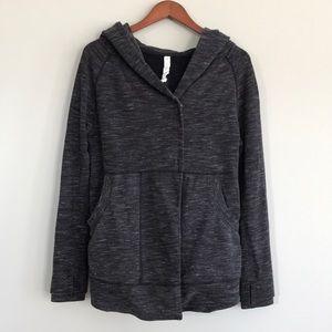 Lululemon grey hooded cozy sweatshirt cardigan